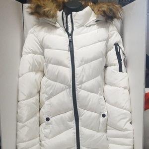 Steve Madden Hoodie Jacket with fur.